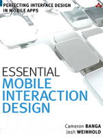 Essential mobile interaction design : perfecting interface design in mobile apps